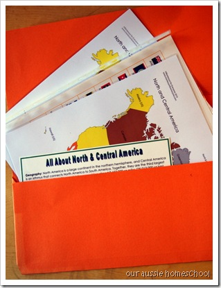 Continent Folders ~ Our Aussie Homeschool