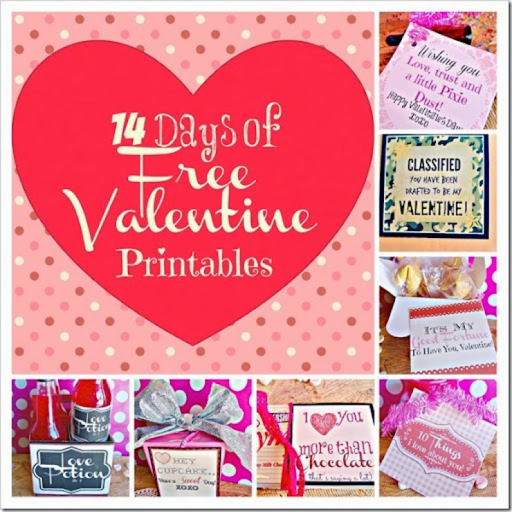 Lou Lou Girls: 14 Days of Free Valentine Printables