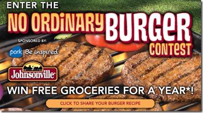 johnsonville burgerContest