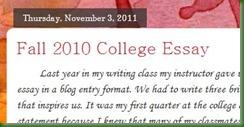fall college essay