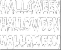 Letras de Halloween para imprimir - Imagui