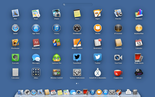 Arrange your icons in Launchpad