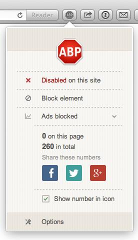 Adblockplus disabled