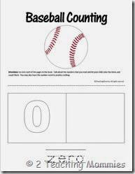 Baseball Counting Book
