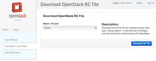 Openstack rc