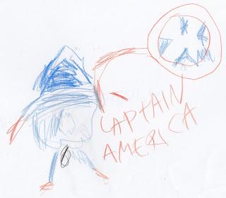 Unit study Avengers Image: Captain America Drawing