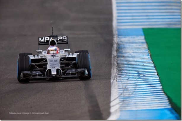 2014 F1 Pre Season Test 1 - Day 2Circuito de Jerez, Jerez, Spain.Wednesday 29 January 2014.Jenson Button, McLaren MP4-29 Mercedes.World Copyright: Glenn Dunbar/LAT Photographic.ref: Digital Image _W2Q9276.JPG