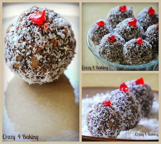 Crazy 4 Baking Coconut Covered Chocolate Balls