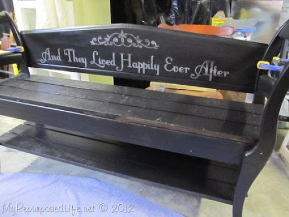 double chair bench design
