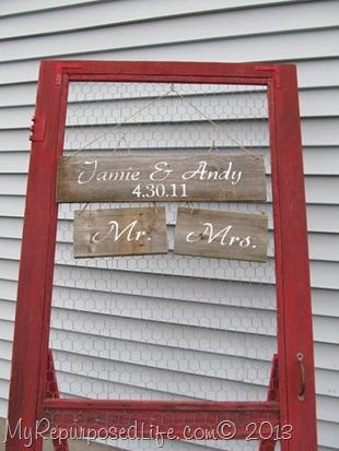 repurposed red screen door