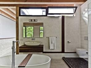 Baño de diseño con certificación LEED Platinum