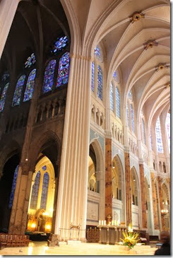 Chartres Notre dame Innen Übergang
