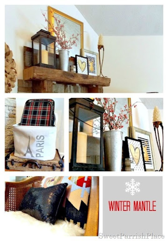 winter mantle collage