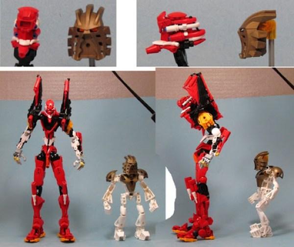 Eva Unit 02 LEGO Size