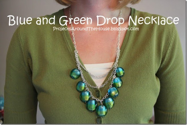 DIY drop necklace
