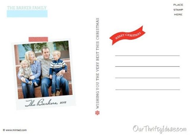 Barker Family Christmas Card Back
