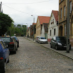 Many streets in Chorzów Stary are still paved with cobblestones.