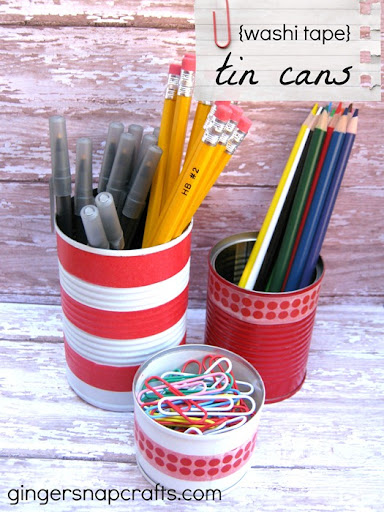 washi tape tin cans