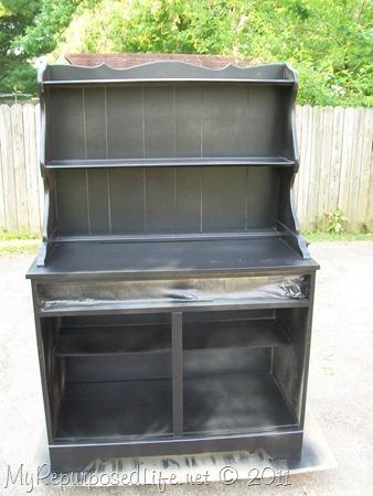 paint vintage hutch black