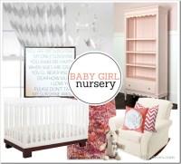 PBJstories: Coral Themed Baby Girl Nursery Mood Board