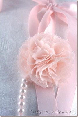 pink pearl flower necklace2