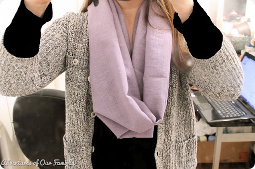 purple diy infinity scarf
