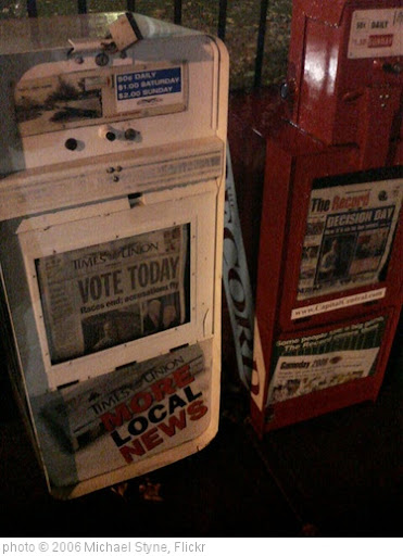 'Election Day Headlines' photo (c) 2006, Michael Styne - license: http://creativecommons.org/licenses/by-sa/2.0/