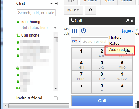 Gmail 撥打長途電話,國際電話費率比SkypeOut便宜,實測心得