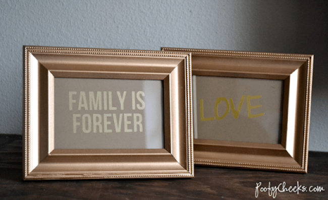 How To: Create cheap and easy gold text prints