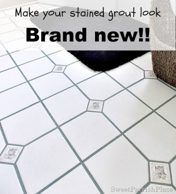 how to make your stained grout look brand new