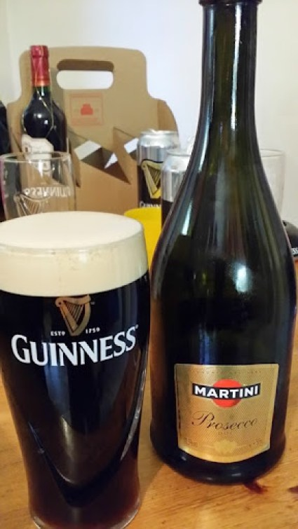 Guinness and Prosecco Party - Courtesy of of Trish and John