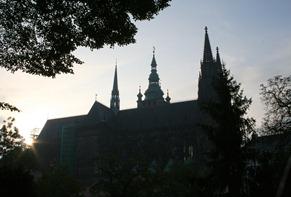 St Vitus at the entrance to Prague Castle