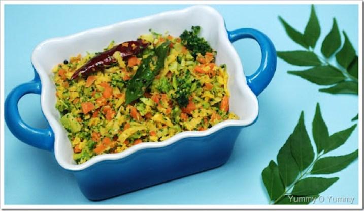Broccoli-Carrot Thoran