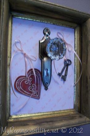 repurposed door knob decor