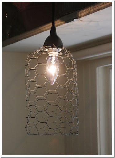 DIY Chicken Wire An Quick And Simple Light Pendent