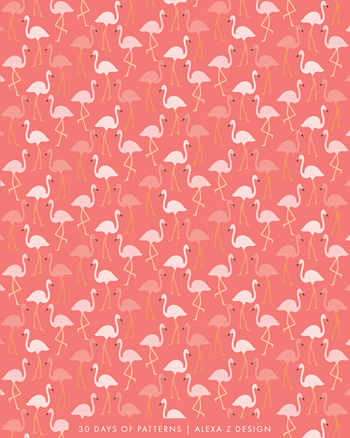 flamingo pattern 30 Days of Patterns Alexa Z Design