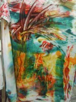 This was the first one Liz made, it will be lighter once dryed and washed.