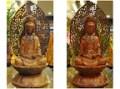 【煥然一新】神明佛像修補重整~原木色觀世音菩薩容光煥發再出發@台北板橋九龍佛具