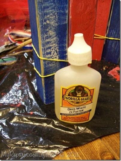 gorilla glue wooden firecrackers