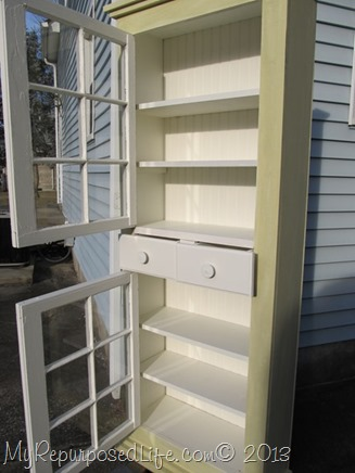 farmhouse window cupboard