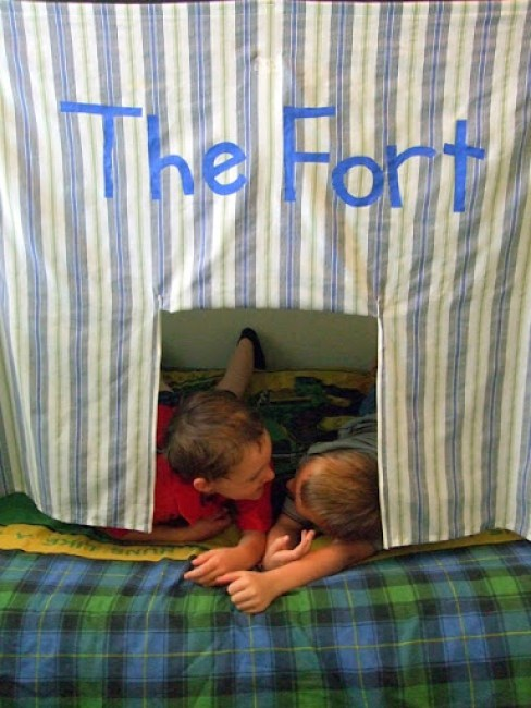 Bunk Bed Fort Tutorial