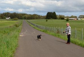 along the bike path to Irish Bend Bridge on the campus at Oregon State University