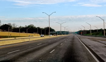 Pensacola morning traffic on I-10