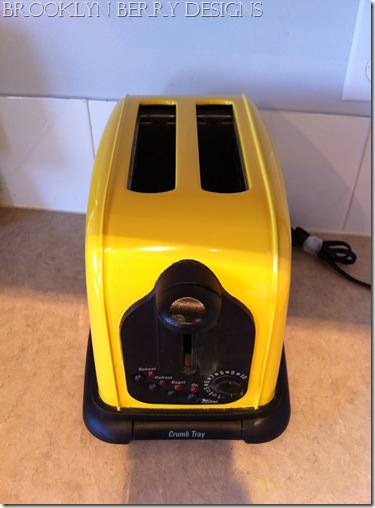 how to paint a toaster yellow