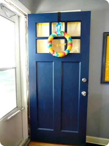 Blue paint color for door