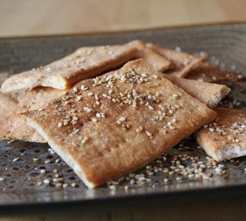 Sesame Spelt Crackers