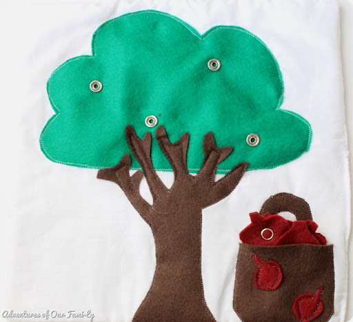 DIY quiet book felt apple tree