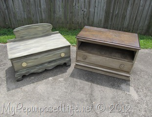 Repurposed-Upcycled chest of drawers