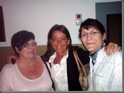 Sabine, Christiane und ich auf der Aftershowparty