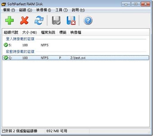 SoftPerfect RAM Disk @ 電腦學習園地 :: 痞客邦